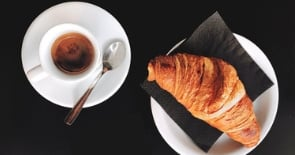 Coffee with a croissant