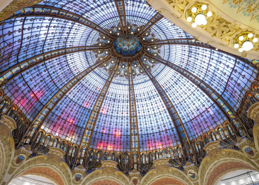 巴黎老佛爷奥斯曼旗舰店的穹顶