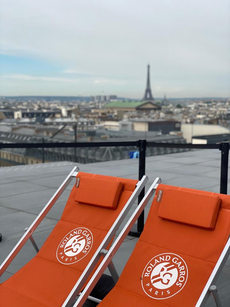 Roland-Garros terrasse Galeries Lafayette